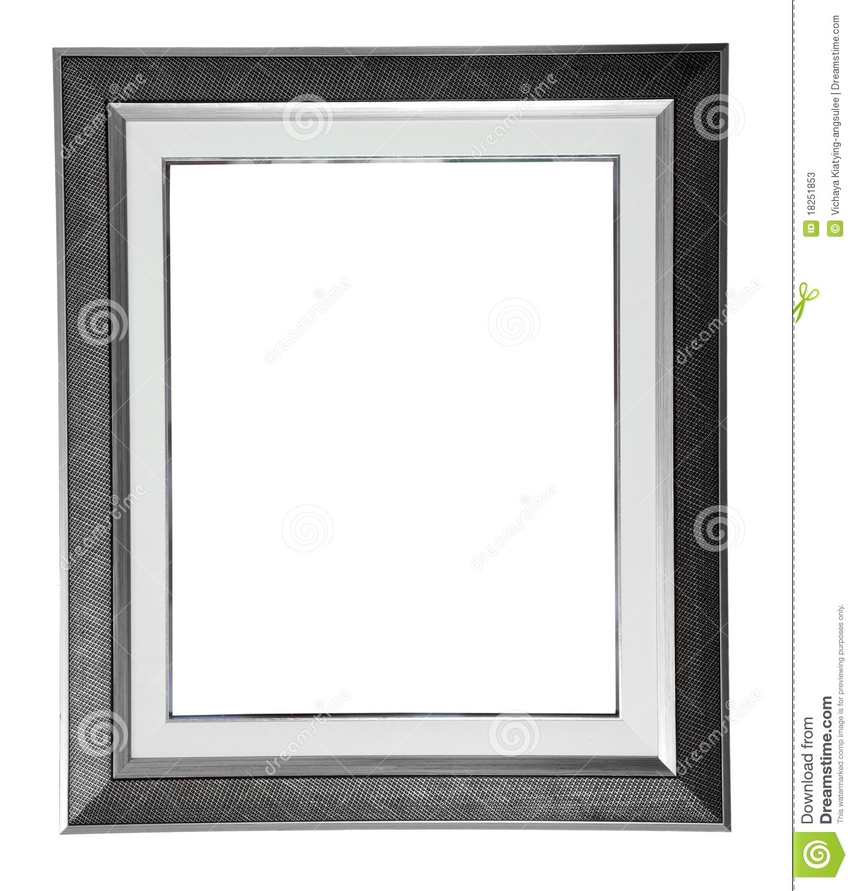 Silver modern frame stock image. Image of gallery, isolated - 18251853