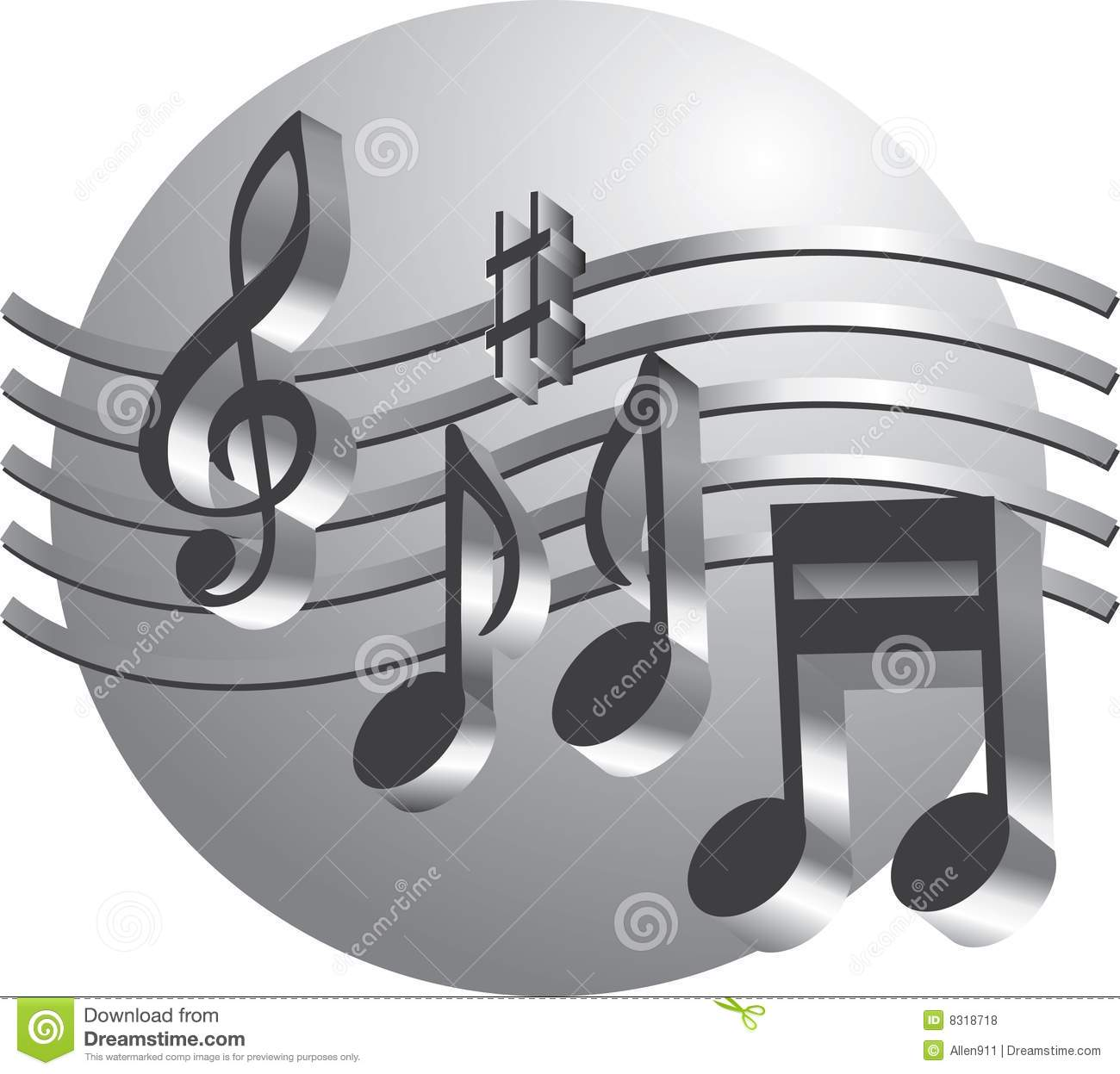 Silver Music Notes Royalty Free Stock Photos Image 8318718