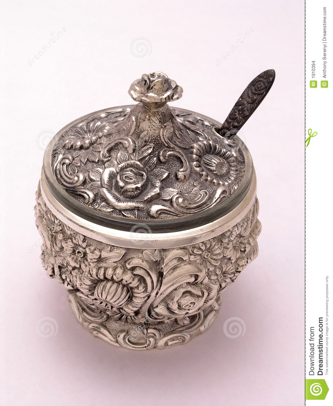 silver ornate sugar bowl 1 stock photo image of antique 1910394