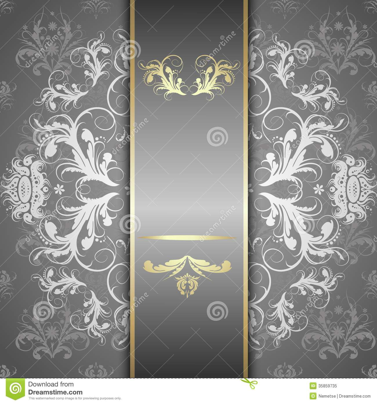 silver pattern on a beautiful background stock vector - illustration