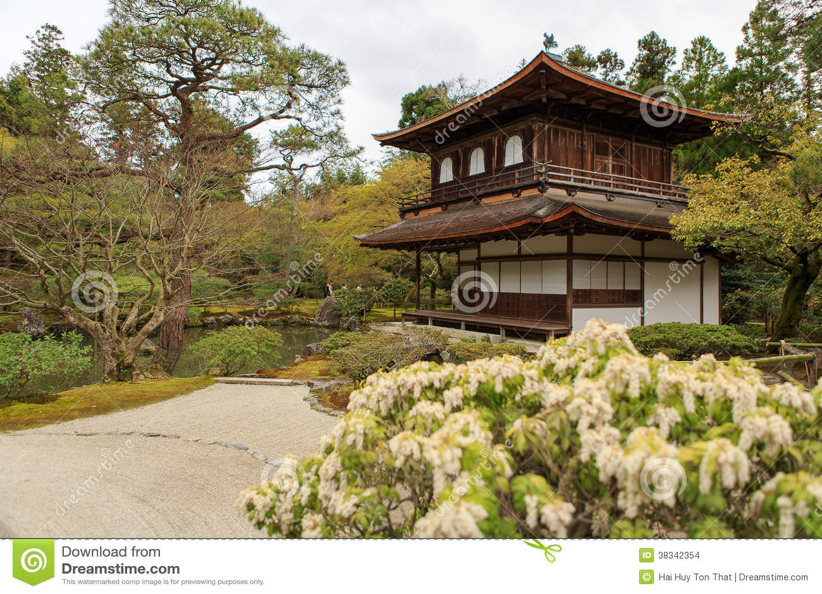 Silver Pavillion In Japanese Zen Garden In Kyoto Stock Photo - Image ...