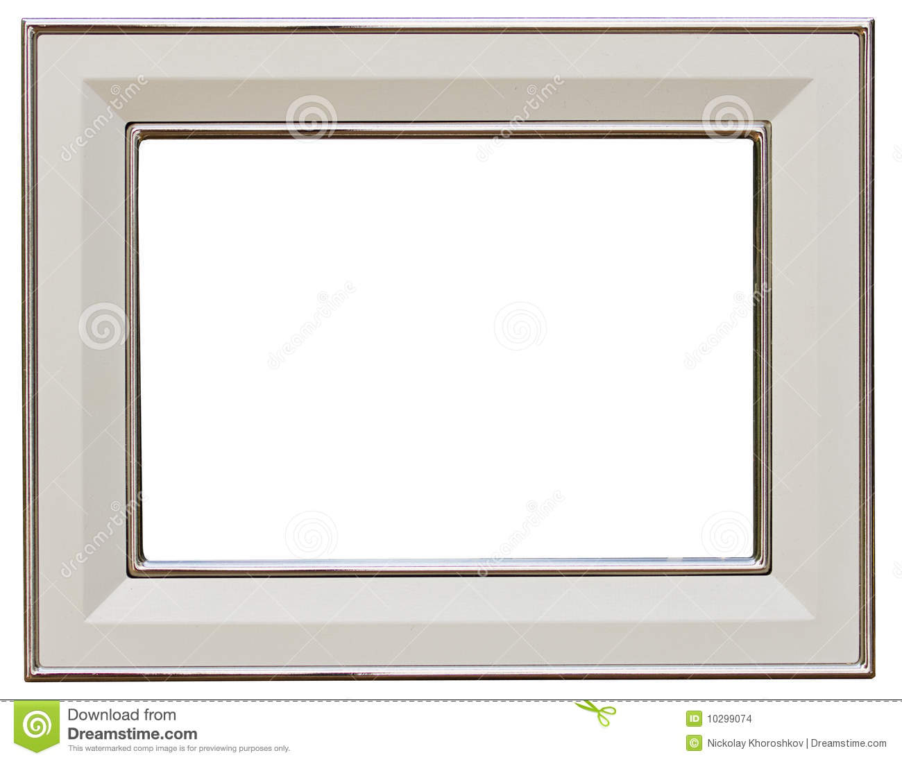 Silver Picture Frame Stock Images - Image: 10299074