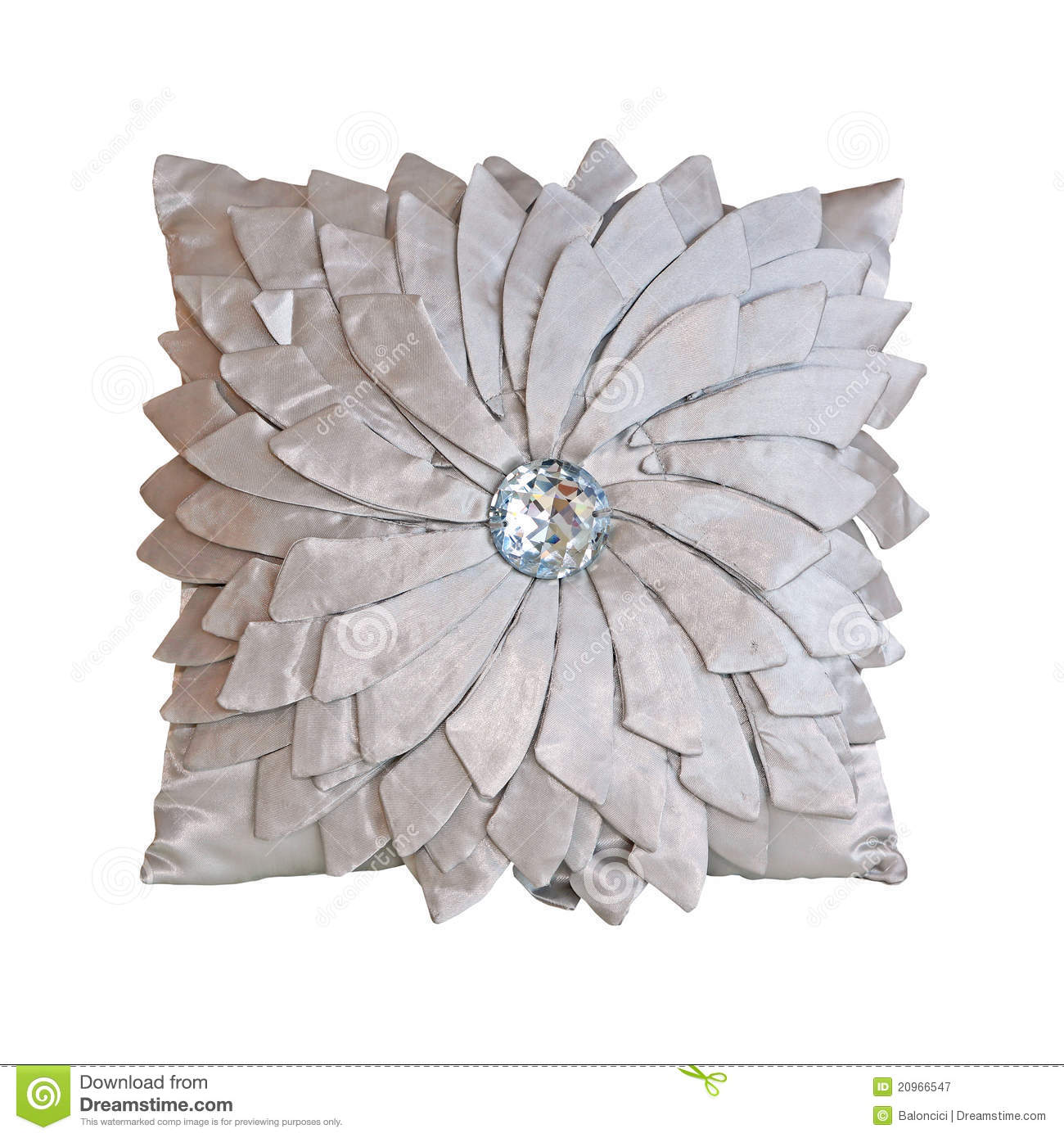 clipping decorative isolated path pillow silver