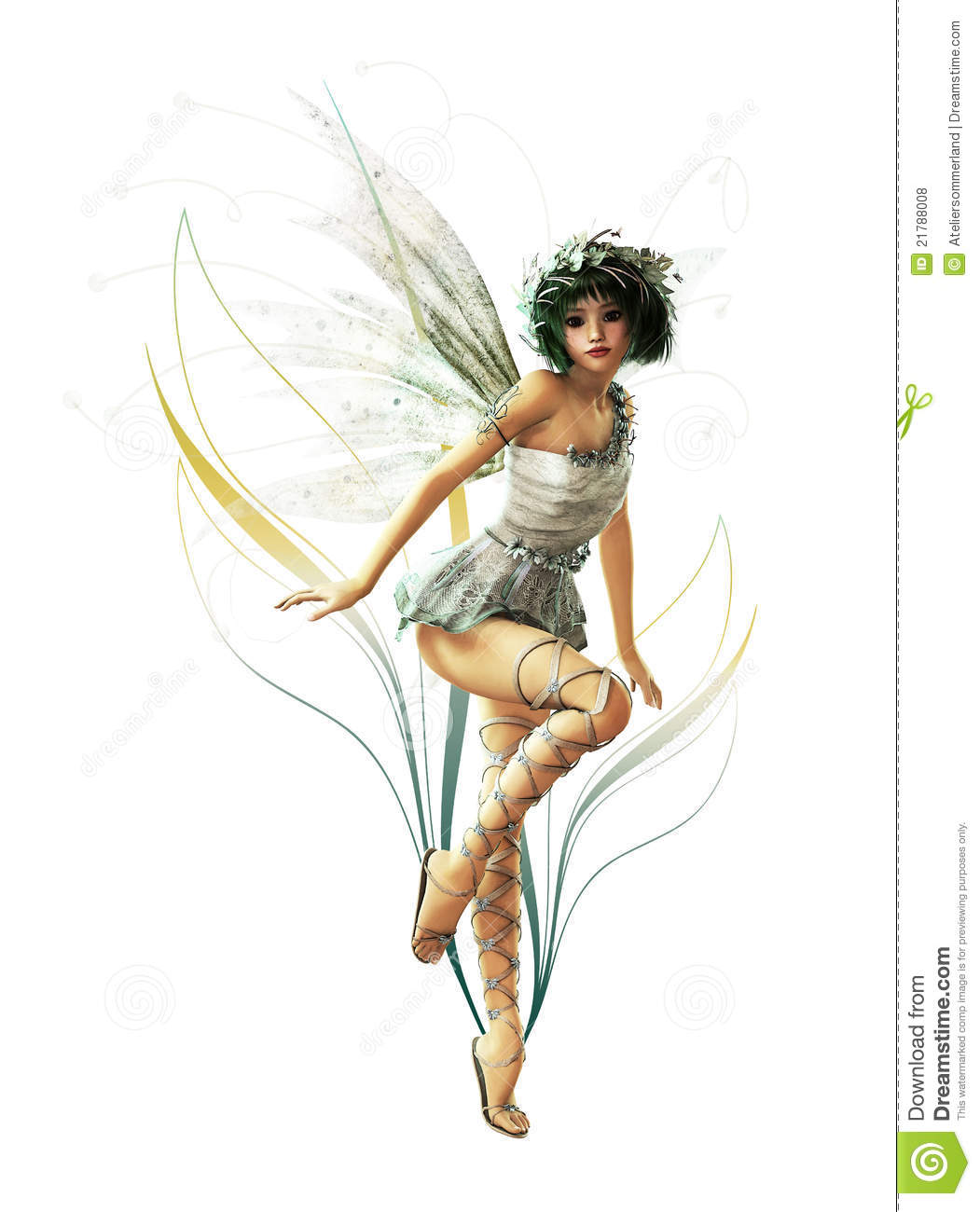 Silver Pixie CA Ornament Royalty Free Stock Photos - Image: 21788008