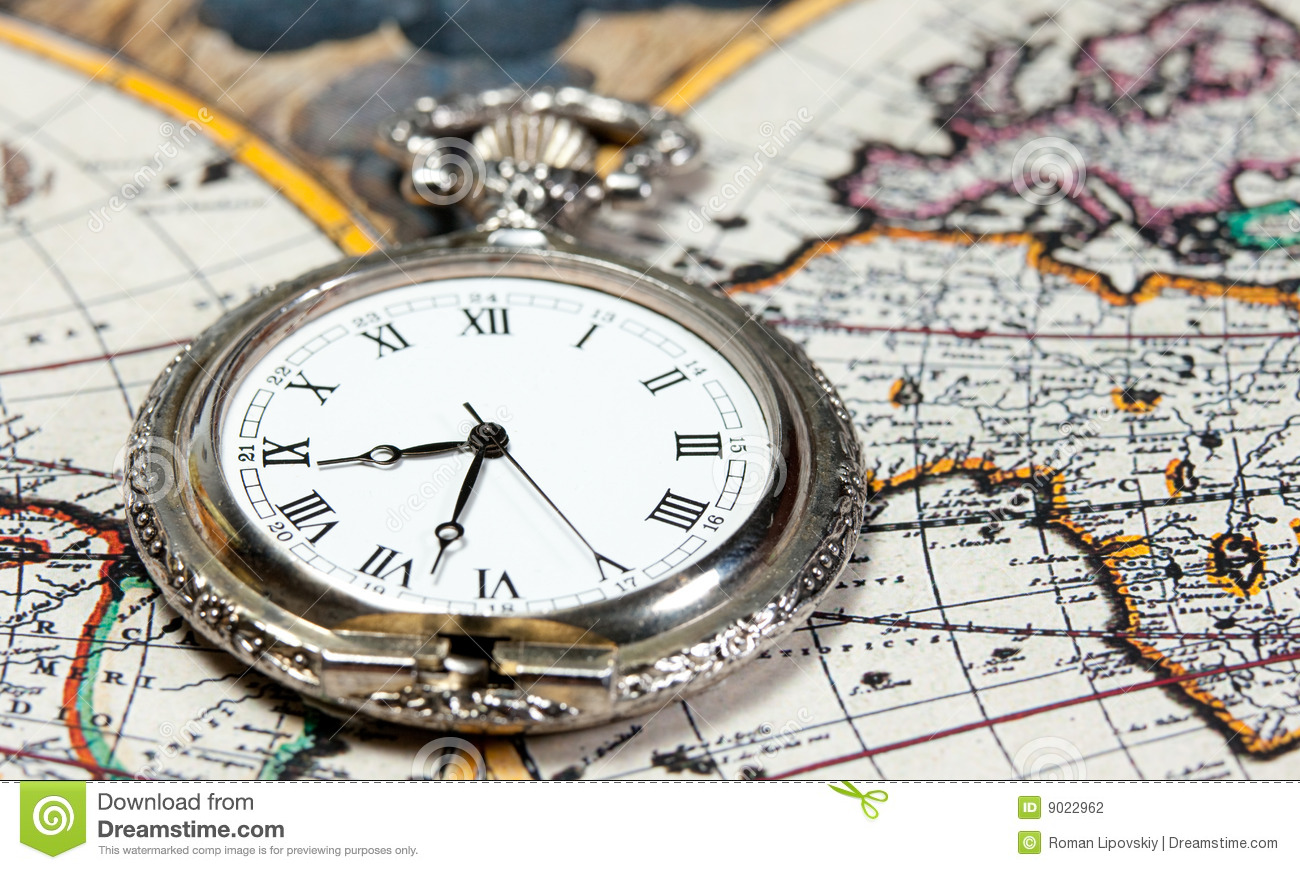 Vintage antique pocket watch old map background stock photos 288 silver pocket watch over old world map vintage big silver pocket watch with antique world gumiabroncs Gallery