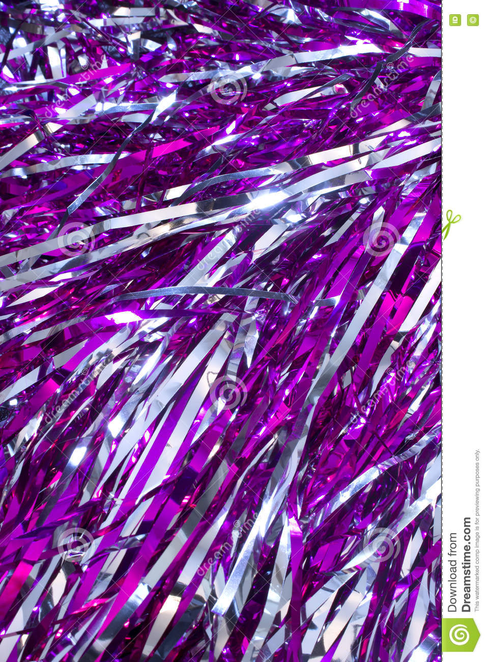 silver and purple pom poms stock image image of