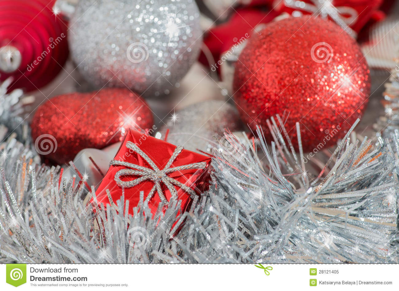 Silver and red christmas decorations royalty free stock photo image 28121405 - Red and silver centerpiece ideas ...