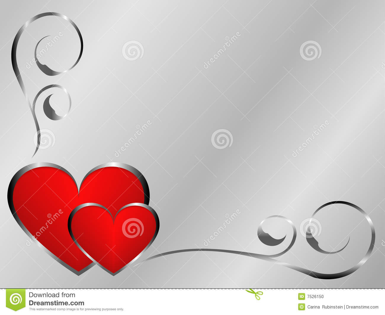 silver and red valentines stock photo image 7526150 lily clipart for memorial lily clipart line border