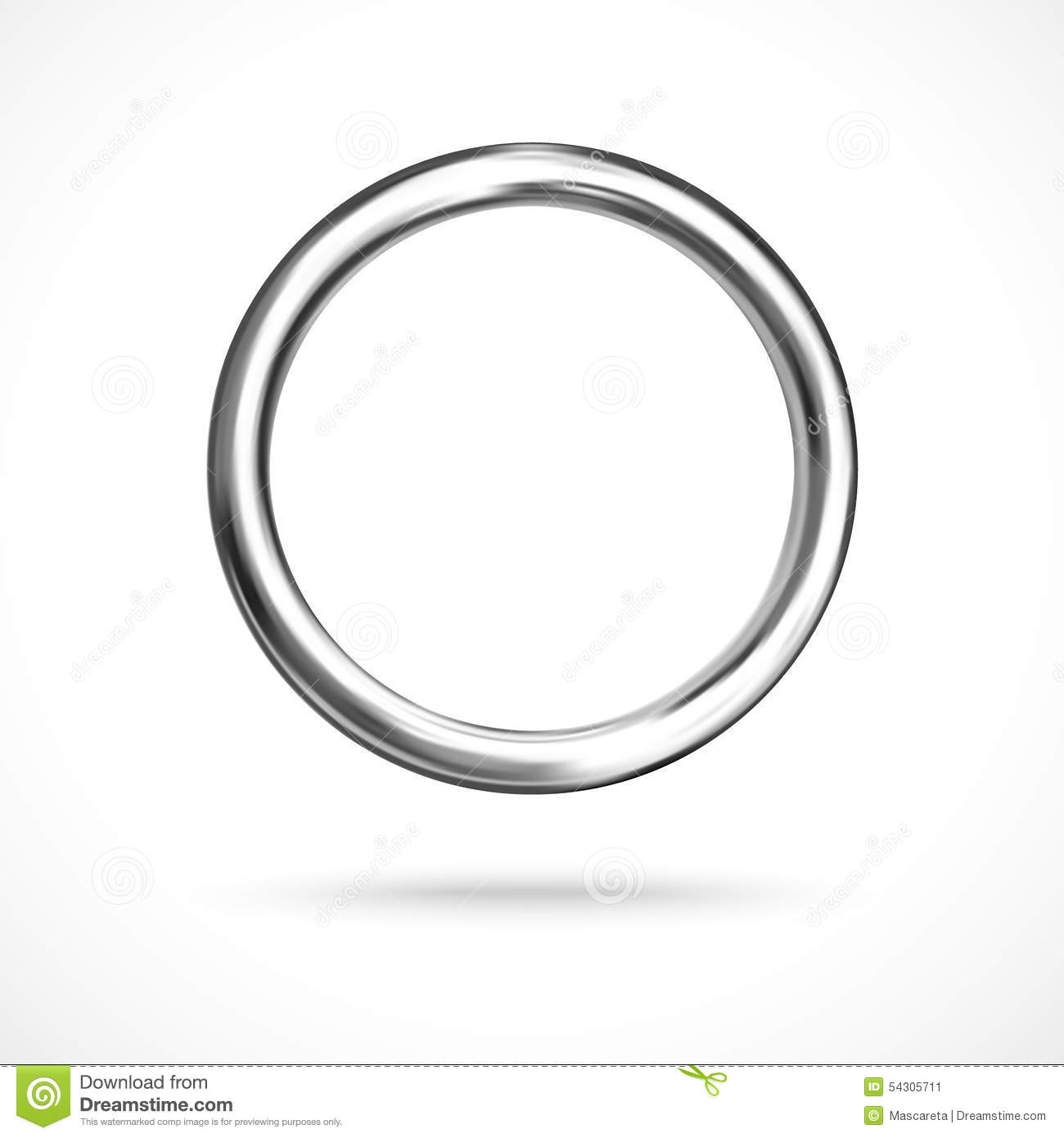 Blue And Silver Plastic Ring