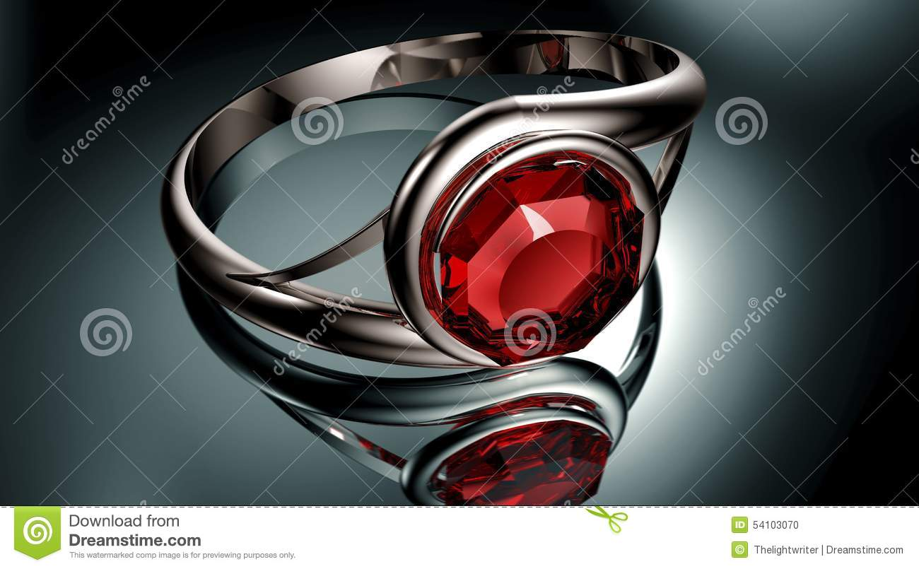 Silver Red Granite : Ruby red stone on a patten background royalty free