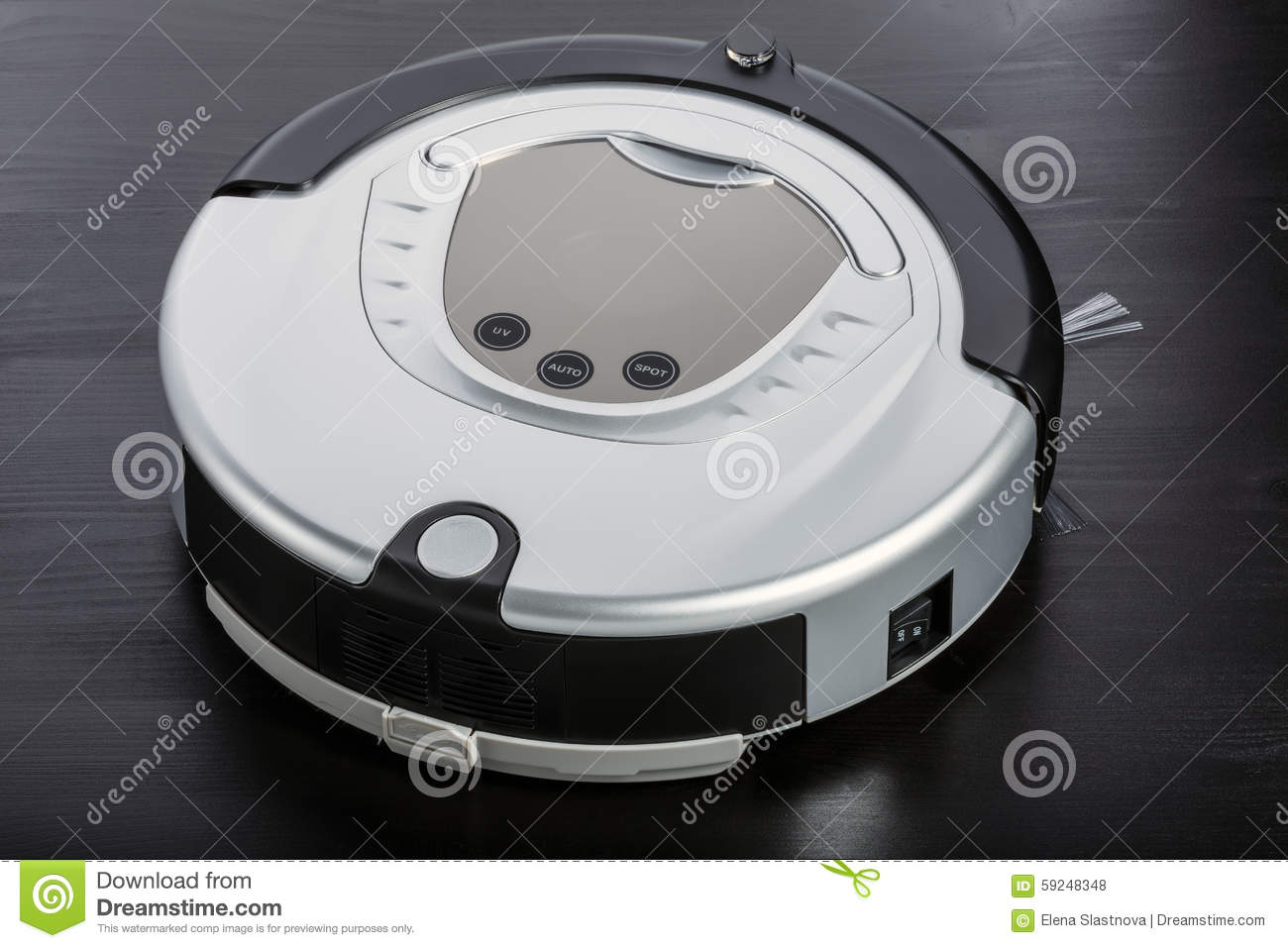 Silver Robot Vacuum Cleaner Stock Photo - Image of appliance