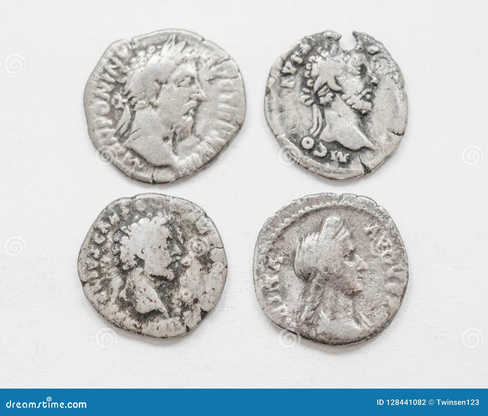 Silver Roman Coins 4 5 Century Ad Rough Work Small