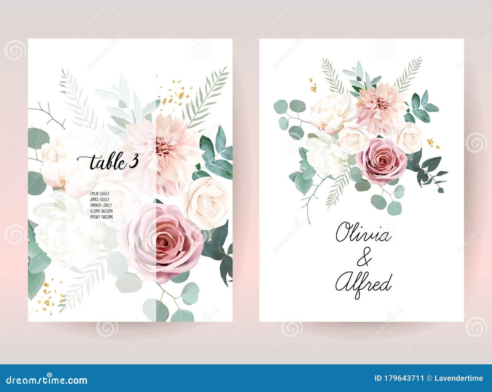 Silver Sage Green And Blush Pink Flowers Vector Design Frames Stock Vector Illustration Of Invitation Blush 179643711