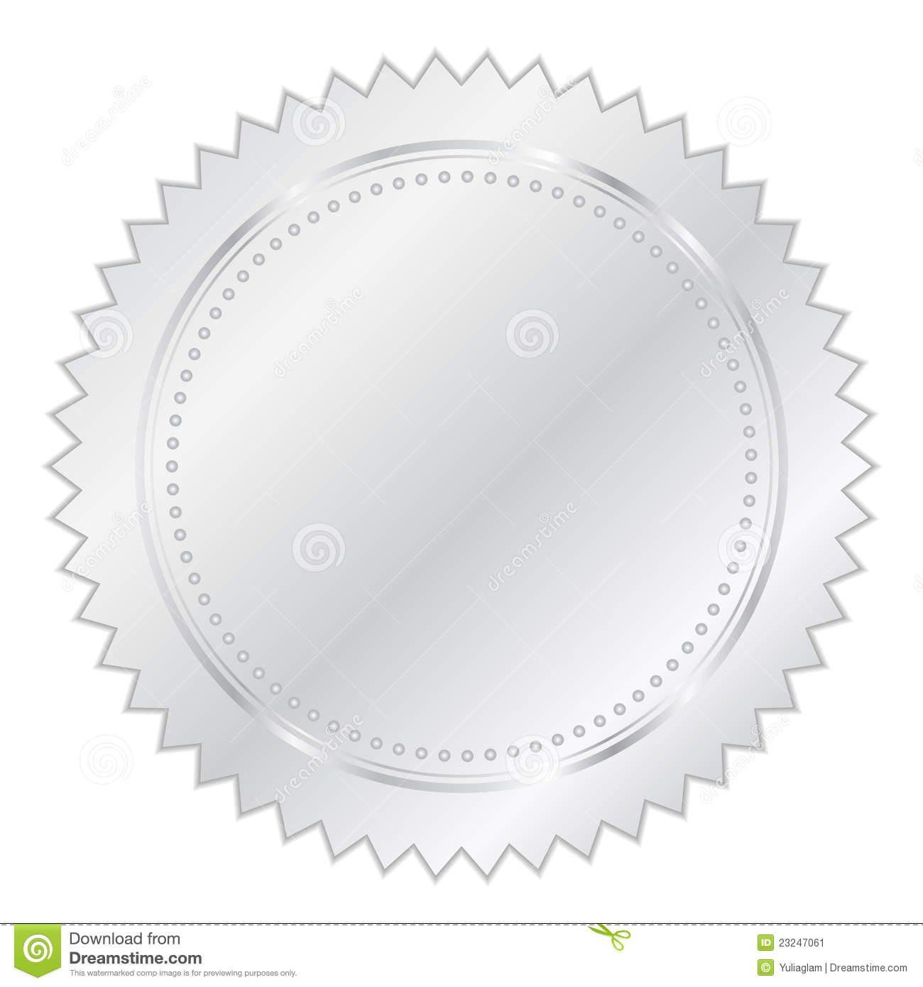 Silver Seal Stock Image - Image: 23247061