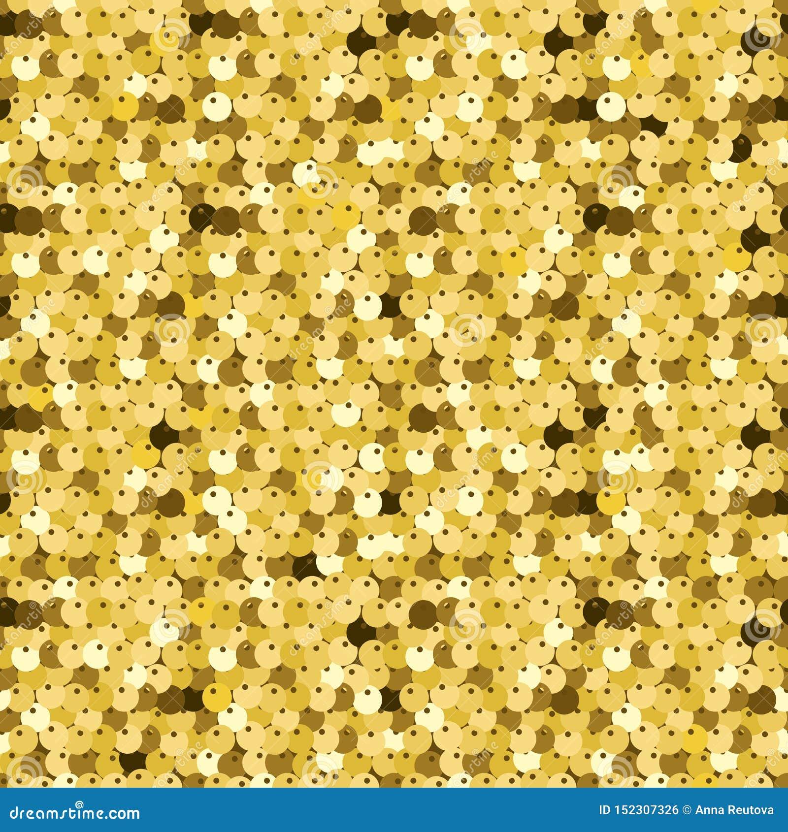 Gold Sequins. Luxury Texture, Glisten Paillettes. Stock Vector ...