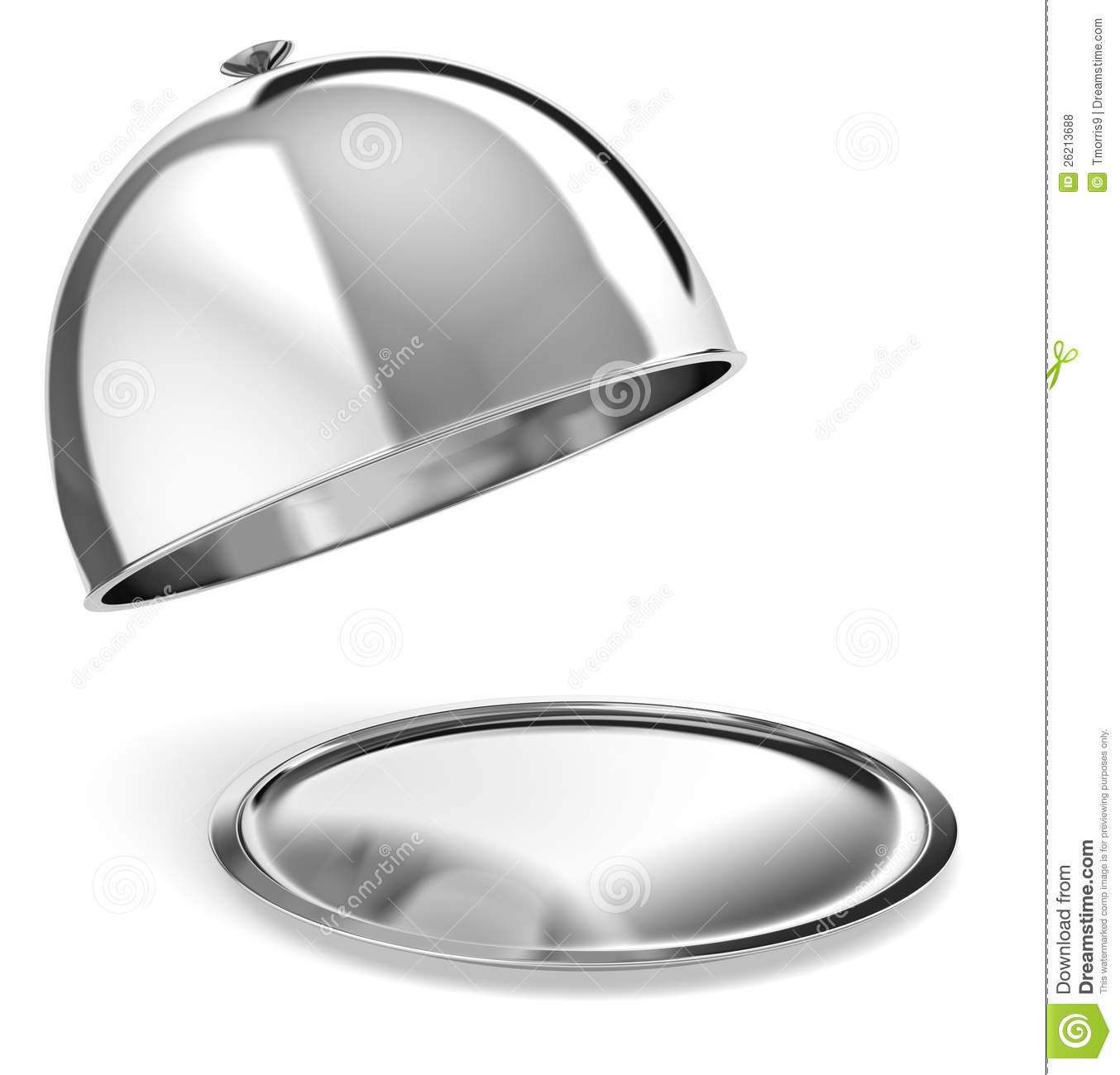 style serving tray as used for room service or fancy restaurants