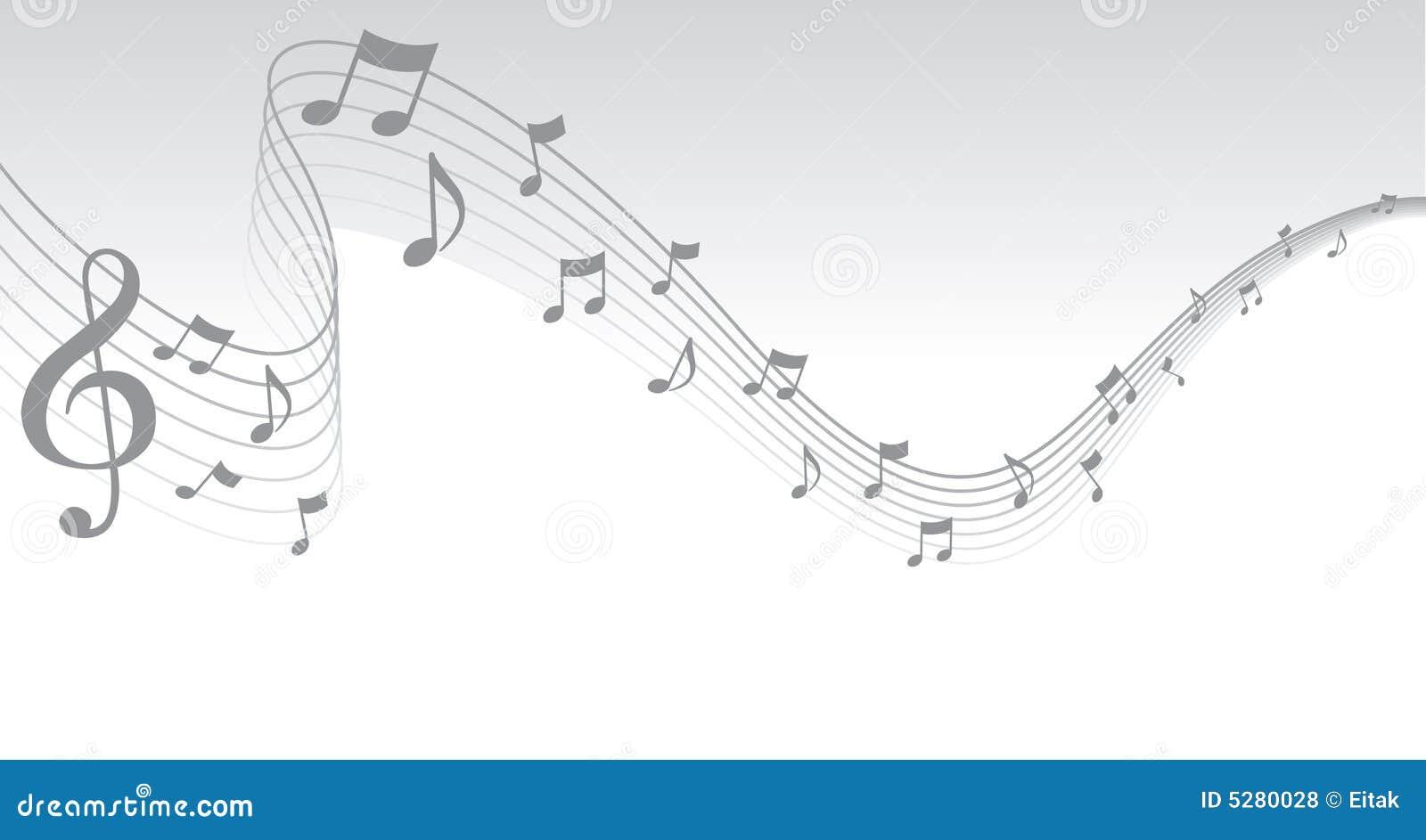 Silver Sheet Music Page Border Royalty Free Stock Photos