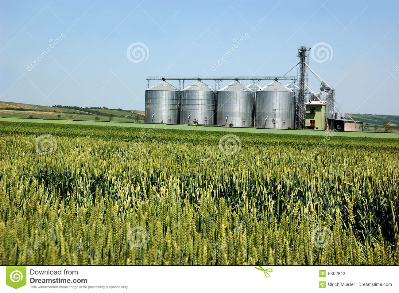 Silver Silo stock photo  Image of silver, food, industry