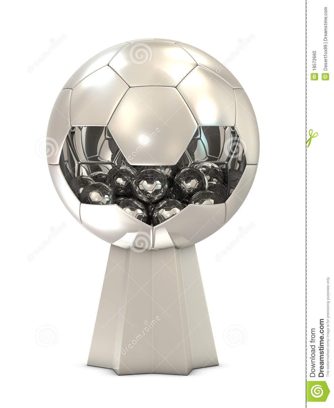 how to draw a soccer trophy