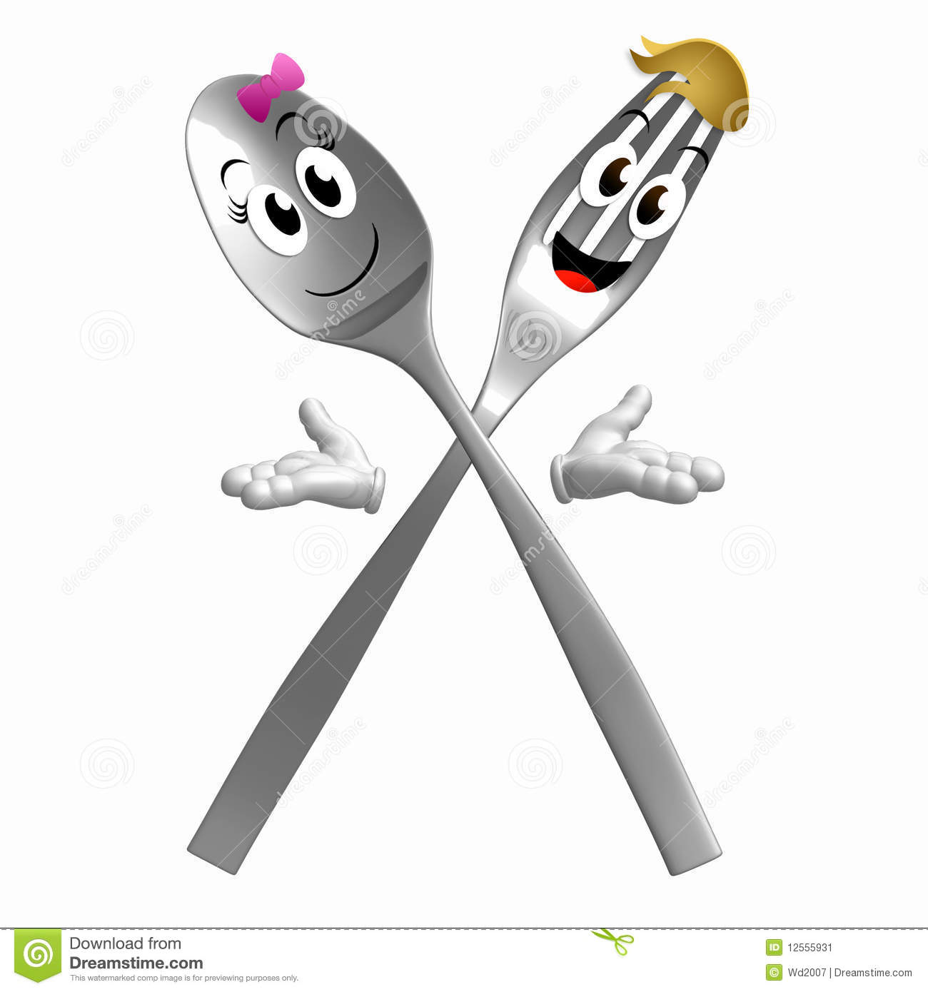 WELCOME SPOONCREATURE Silver-spoon-fork-character-welcome-pose-12555931