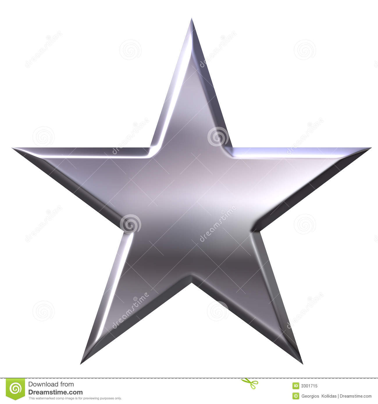 Silver Star Royalty Free Stock Photo - Image: 3301715