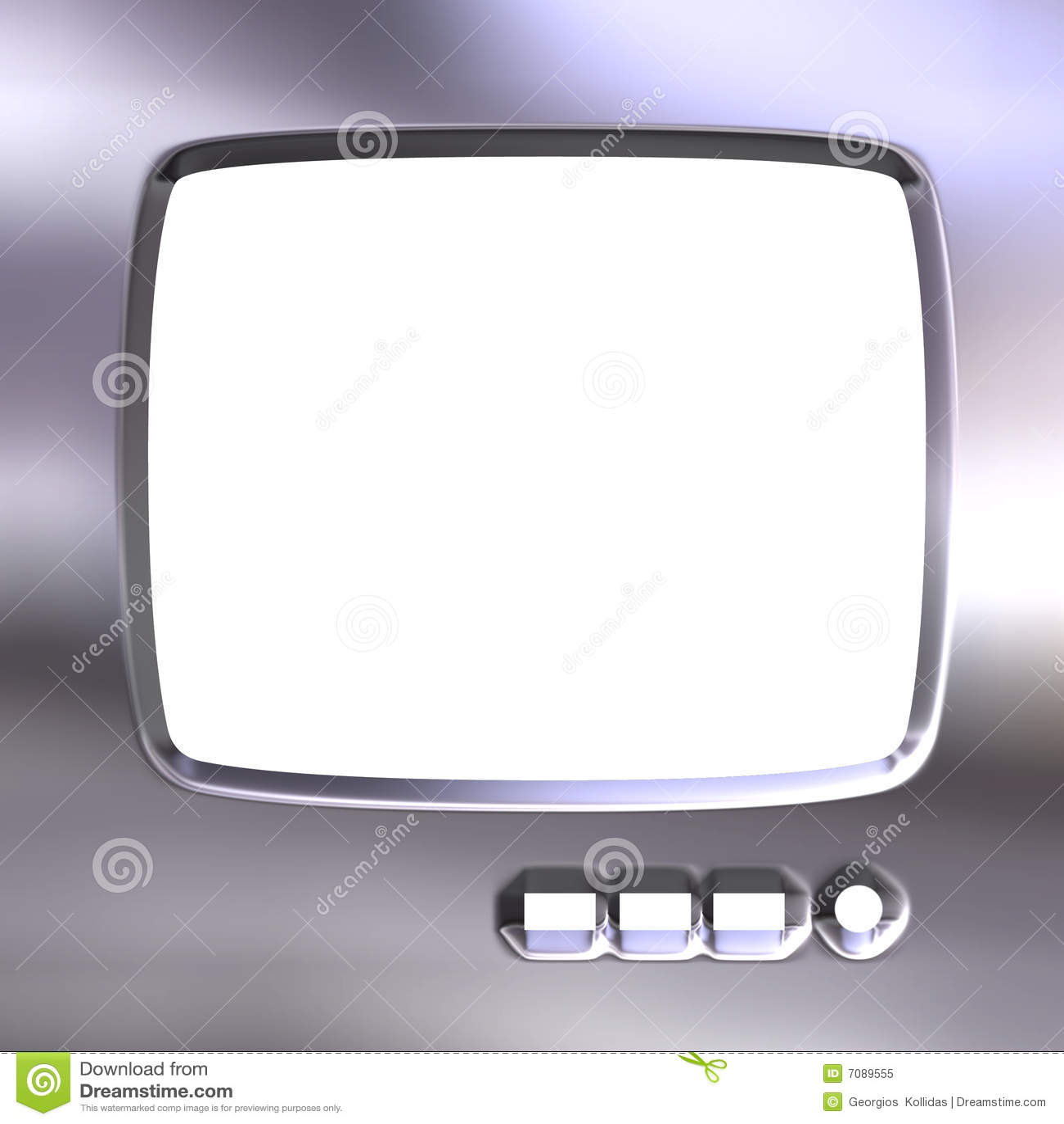 Silver TV Frame stock illustration. Illustration of device - 7089555