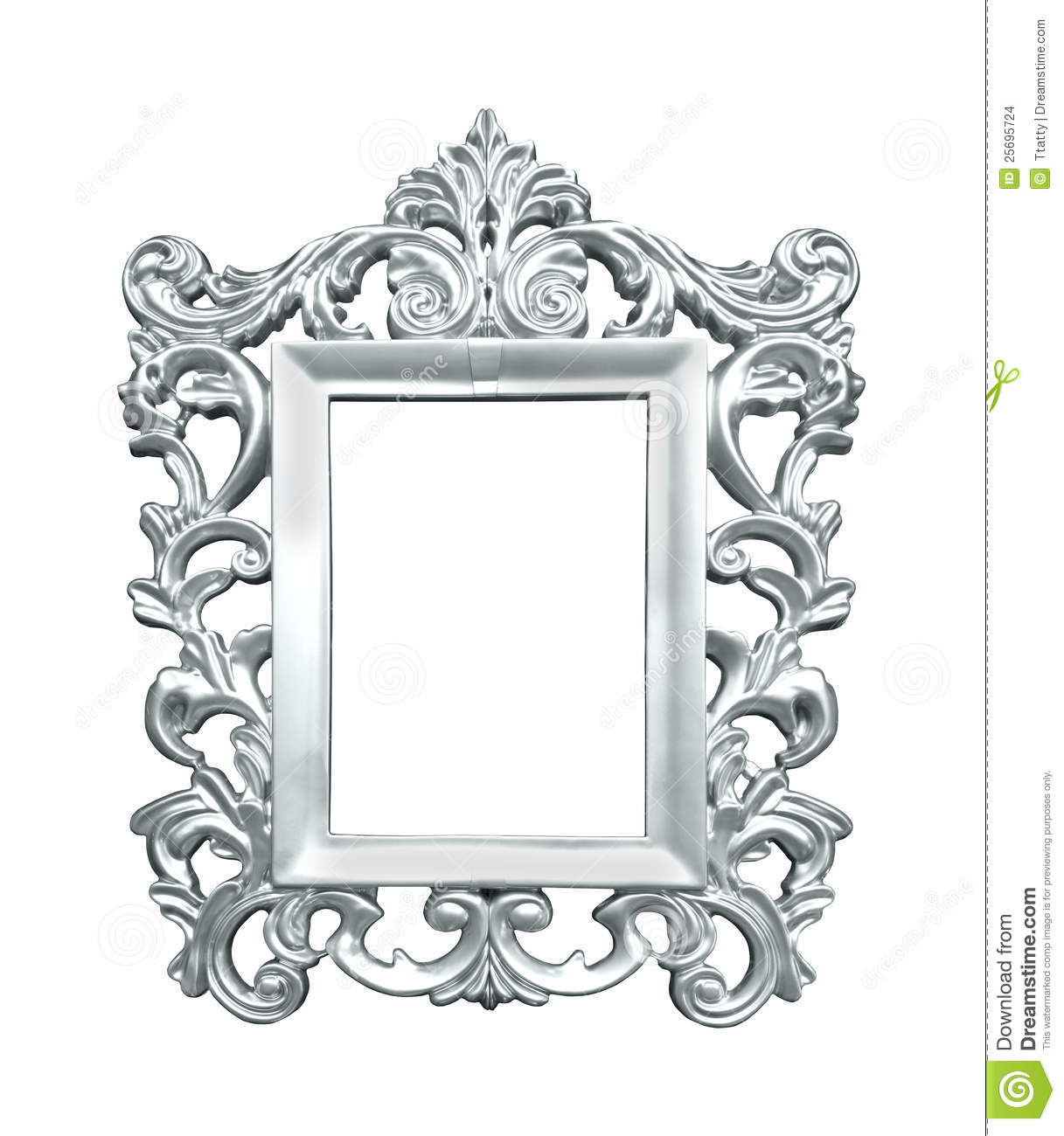 Silver vintage frame stock photo. Image of cutout, vintage - 25695724