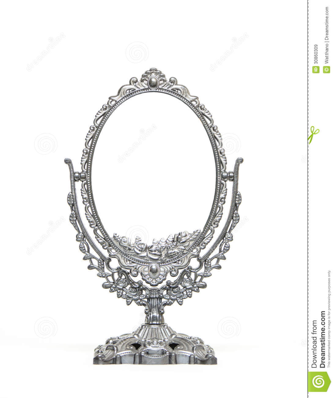 Silver Vintage Mirror Isolated On White Background Royalty Free Stock ...: www.dreamstime.com/royalty-free-stock-images-silver-vintage-mirror...