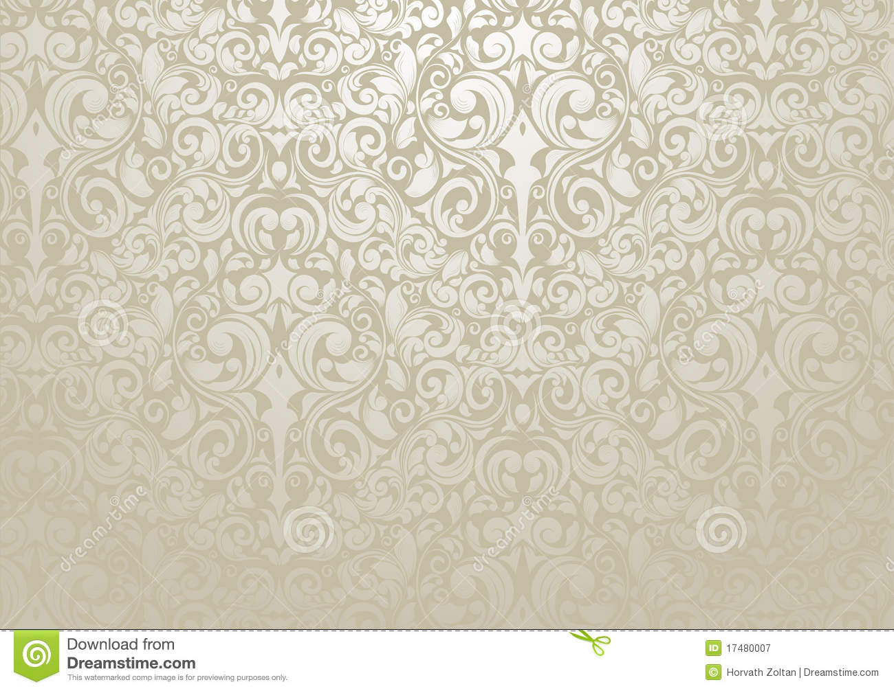 silver wallpaper stock vector illustration of flower 17480007. Black Bedroom Furniture Sets. Home Design Ideas