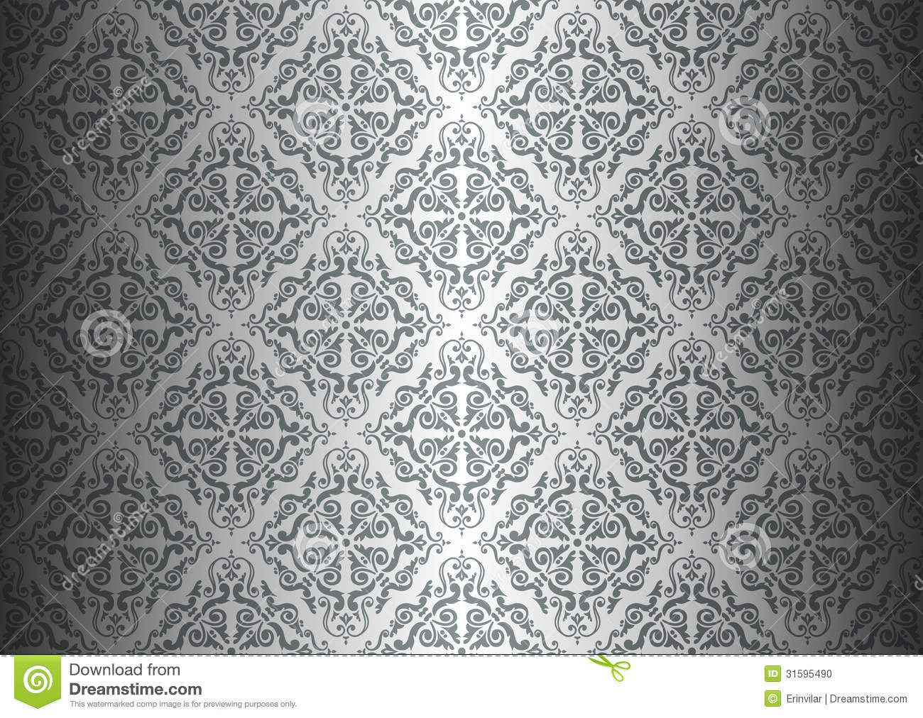 Silver wallpaper stock vector image of graphic clear - Papel pared vintage ...