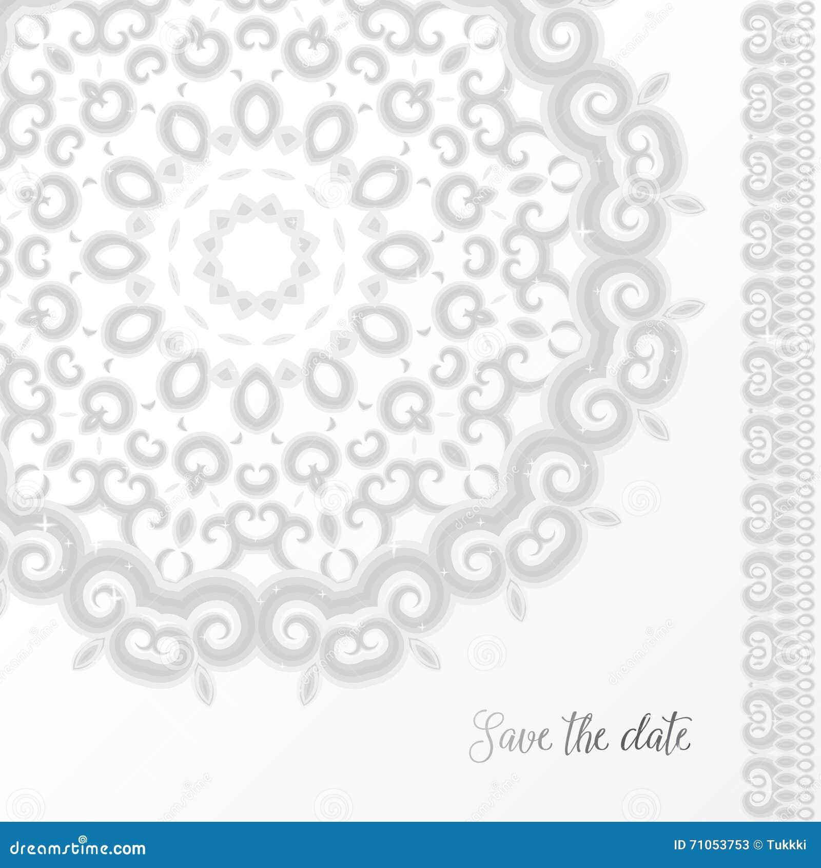 Silver Wedding Invitation Template Stock Vector - Illustration of ...