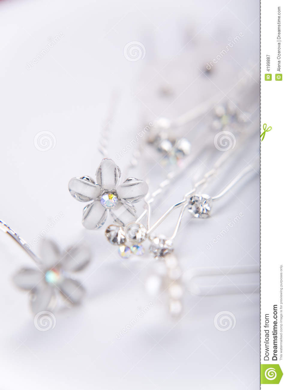 Silver wedding pins