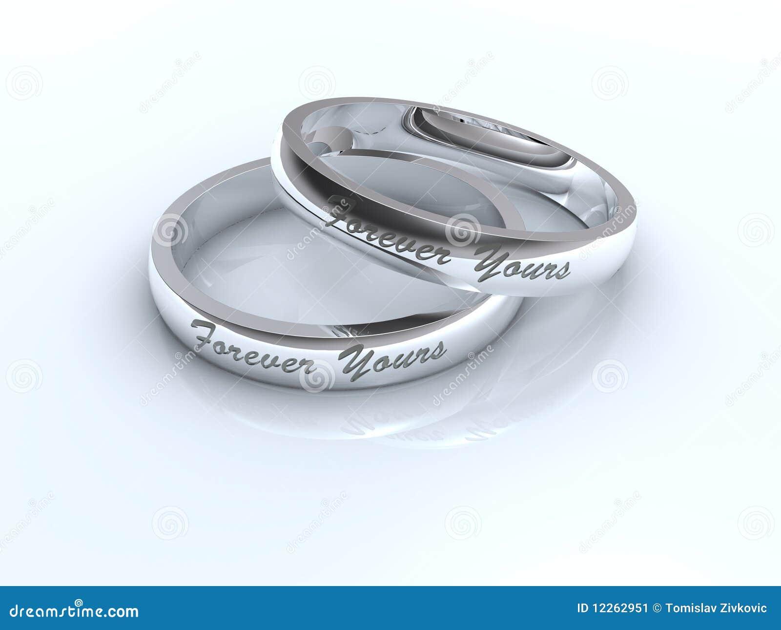silver wedding rings stock image image 12262951