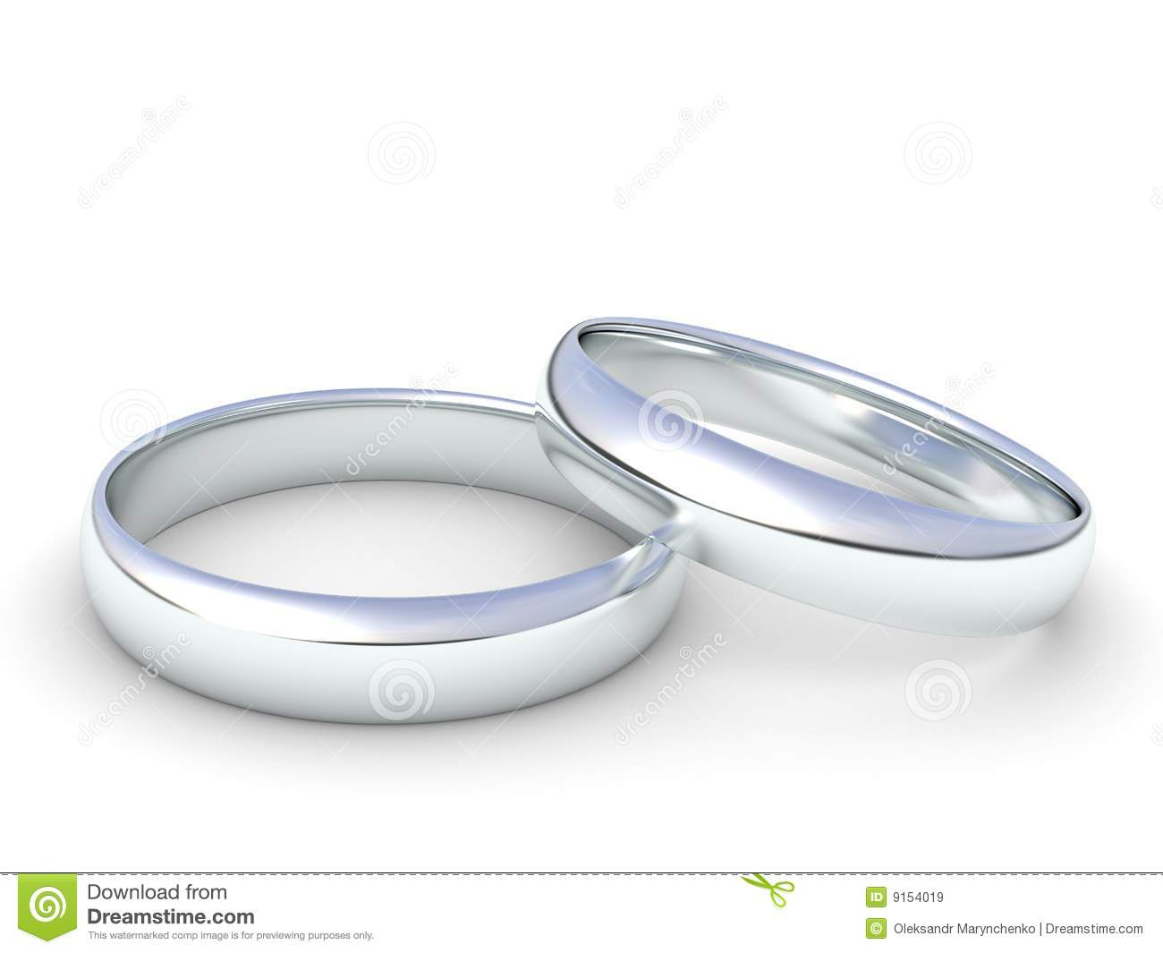 Silver Wedding Ring Clipart Silver wedding rings isolated