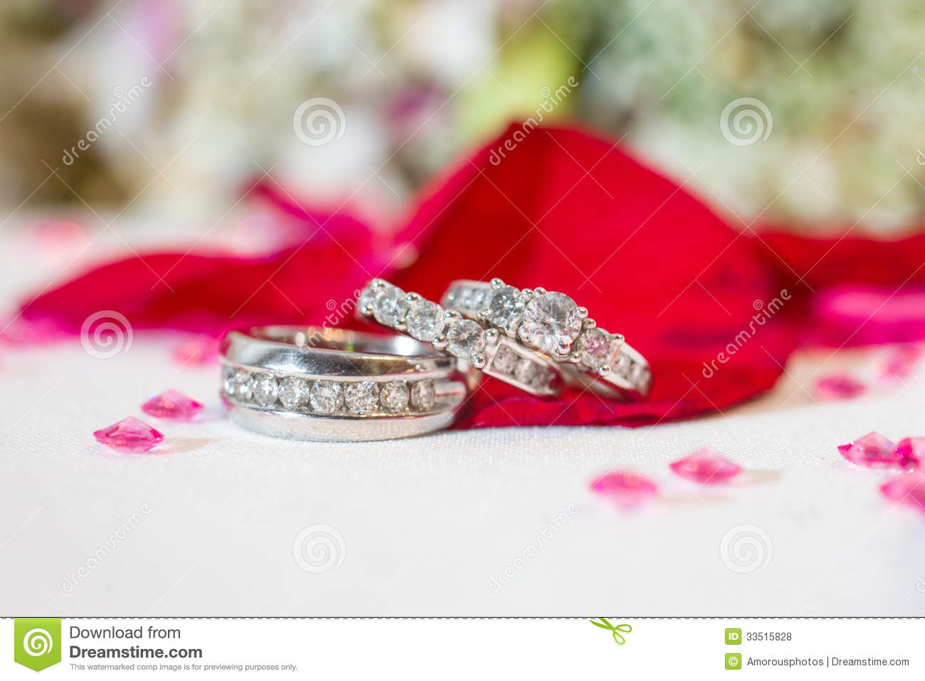 Silver Wedding Rings Royalty Free Stock Photos Image