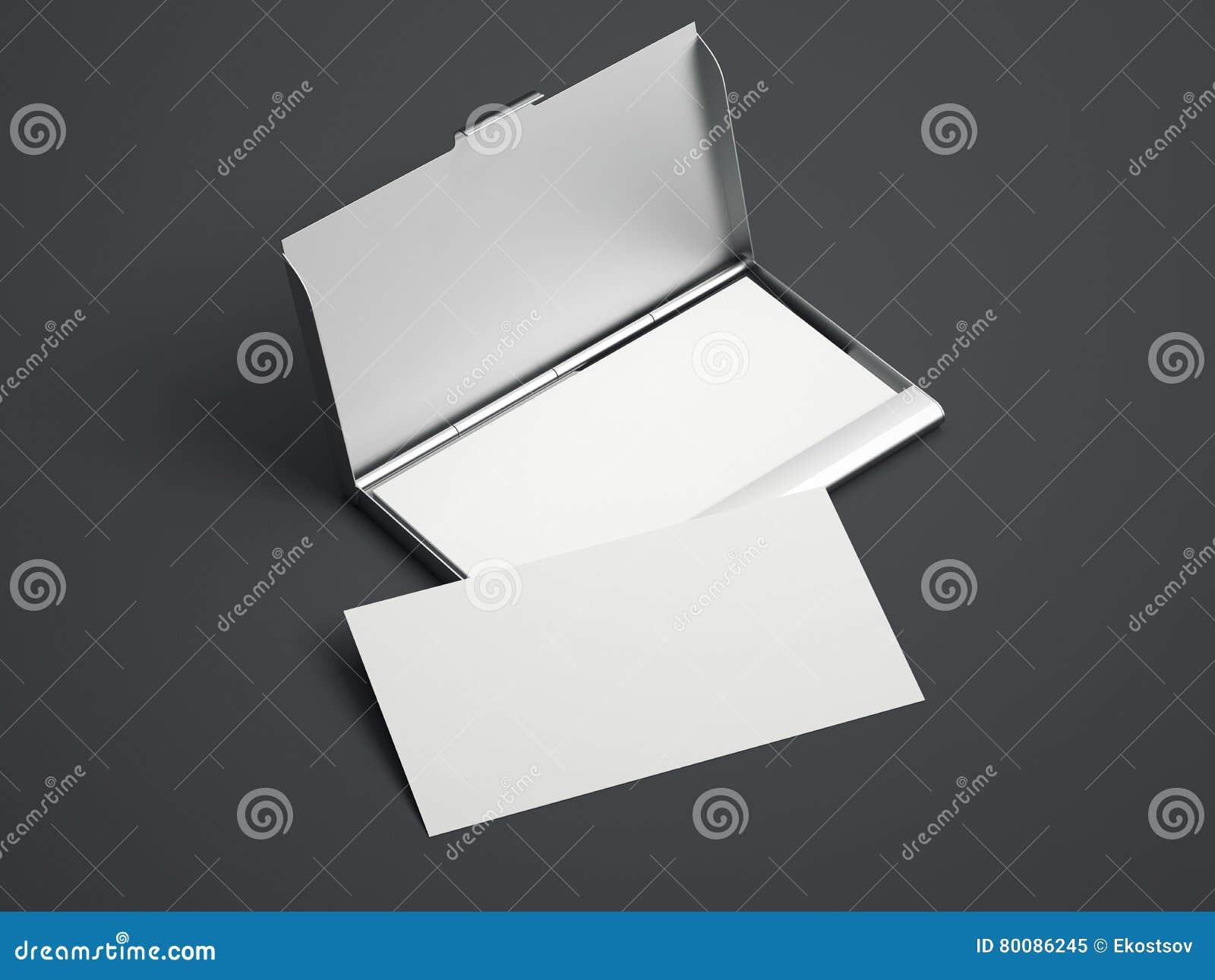 Silverfall med kort för vitmellanrumsaffär framförande 3d