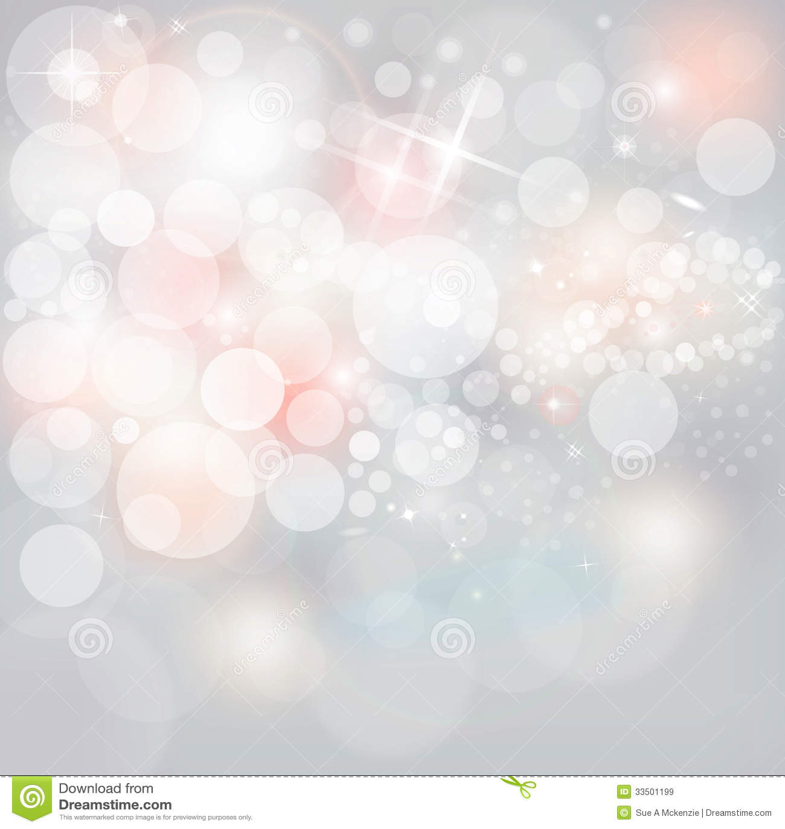 Silverljus & stjärnor på friläge Grey Christmas Holiday Background