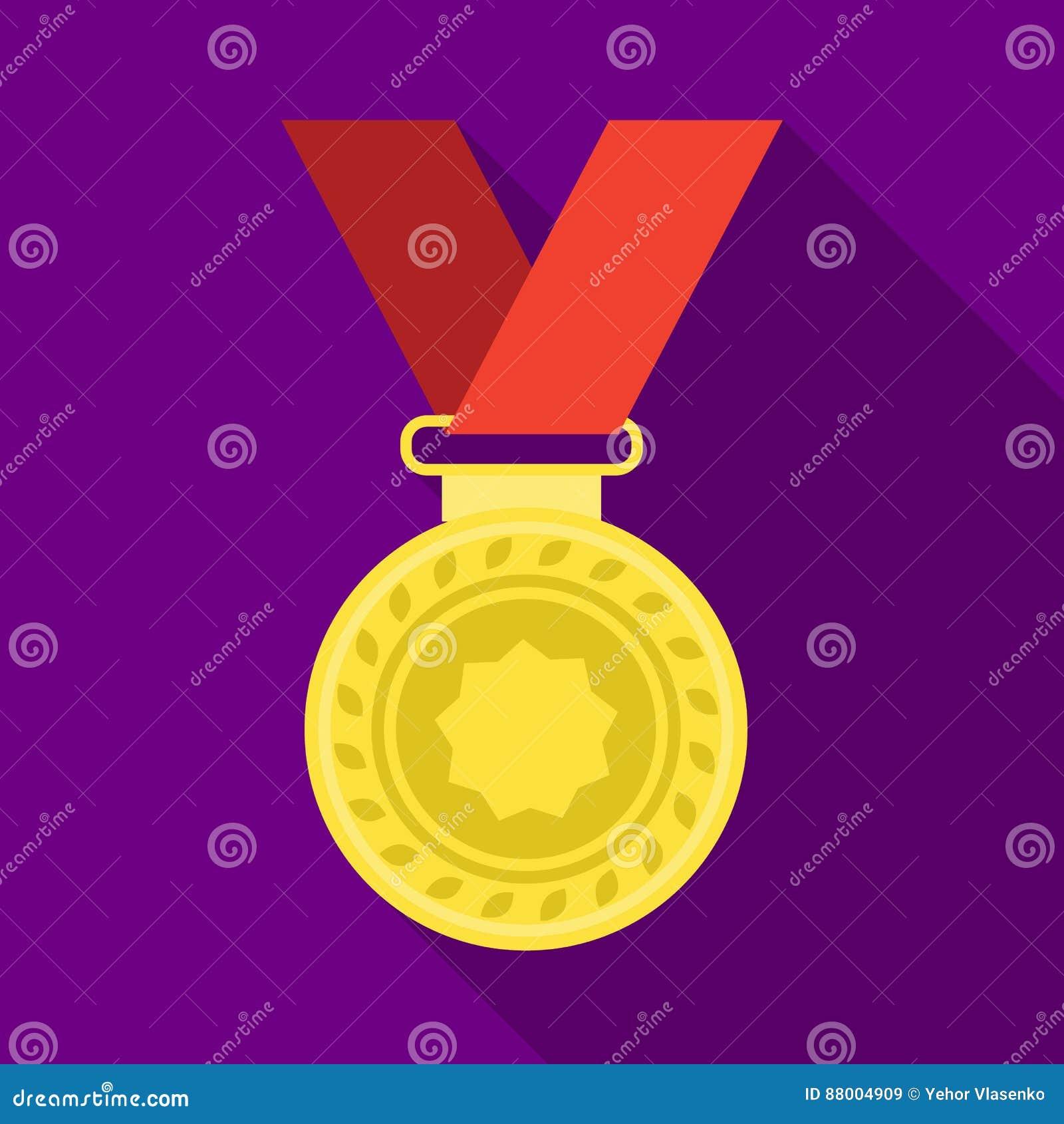 Silvermedalj på ett rött band Utmärkelsen för det andra stället i konkurrensen Utmärkelser och enkel symbol för troféer i lägenhe