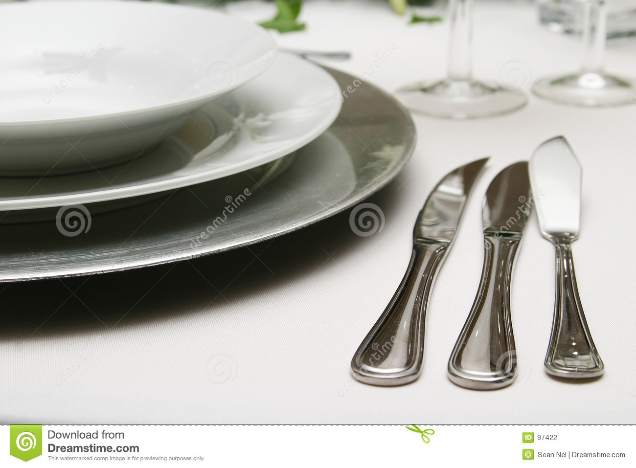 Three Course Meal Formal Eating Knives