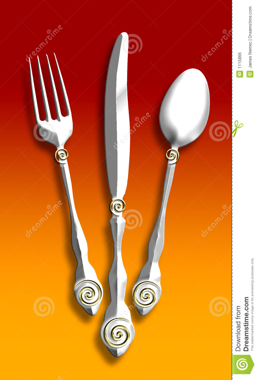 Silverware Illustration Stock Illustration Image Of Food