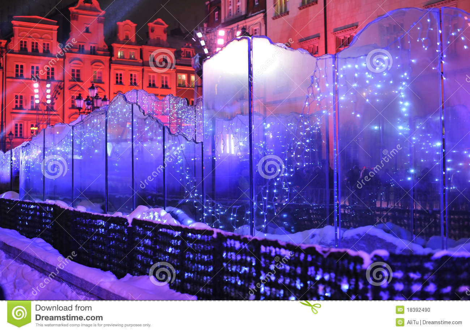 Silvester стекла фонтана кануна