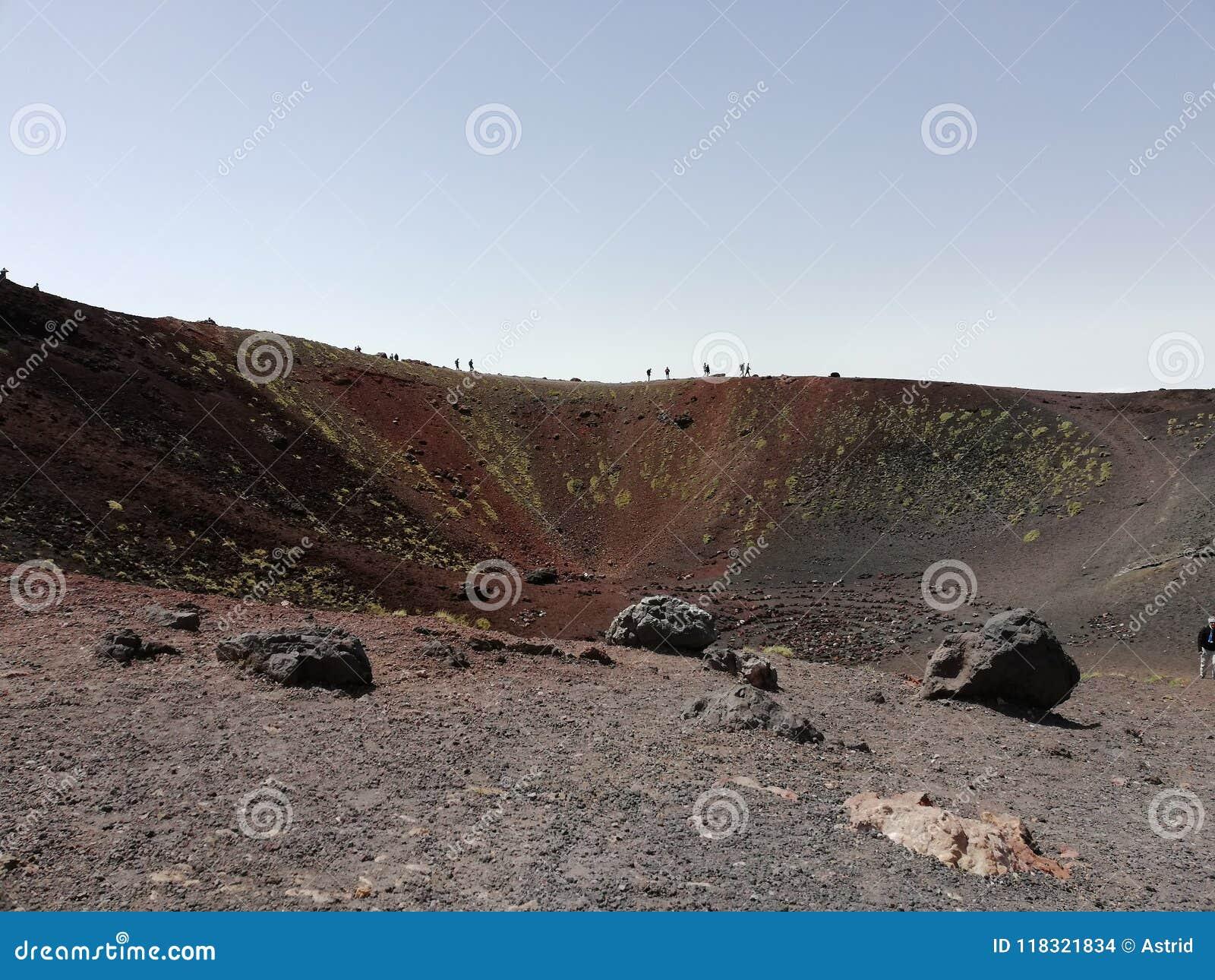 Etna Volcano, crater