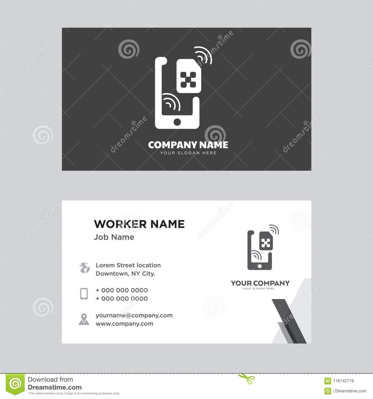 Sim Business Card Design Editorial Stock Image Illustration Of