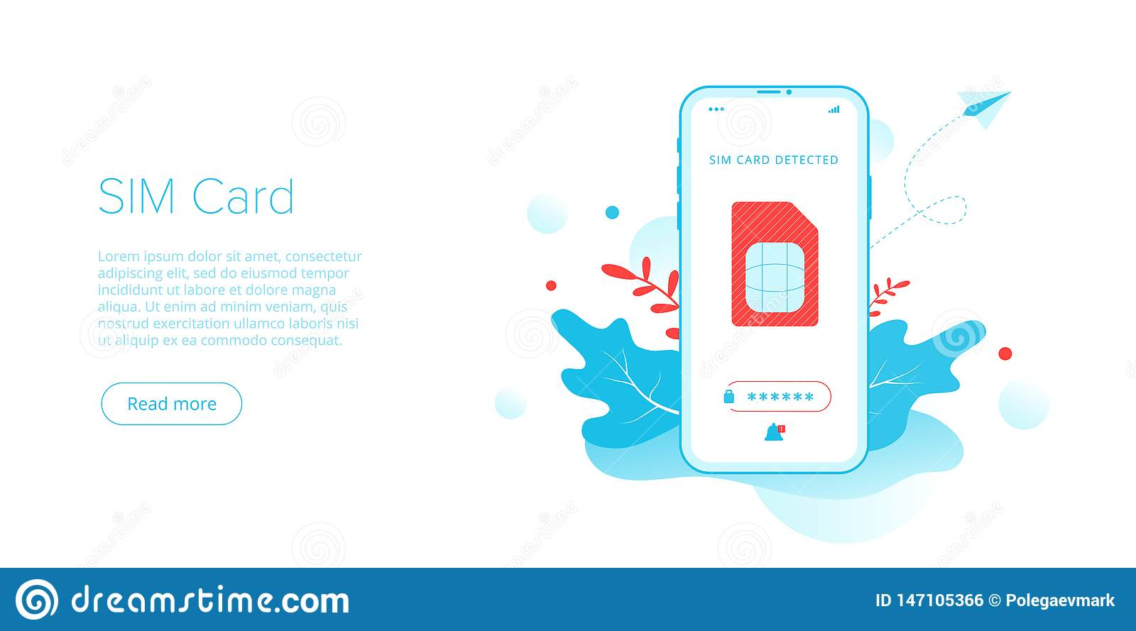 SIM Card Concept In Isometric Vector Illustration  Mobile