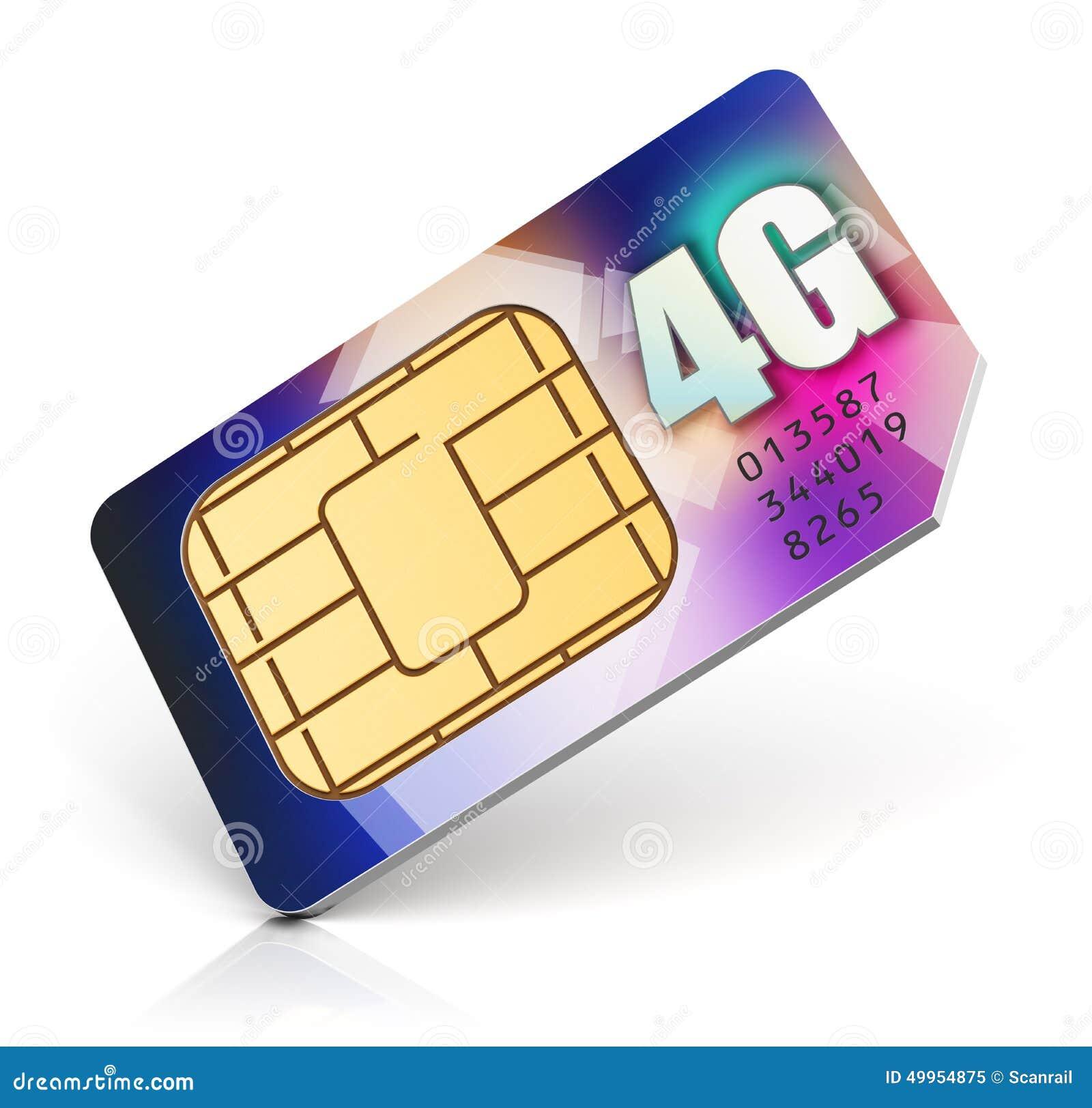 SIM Card For 4G Enabled Operator Stock Illustration - Illustration ...