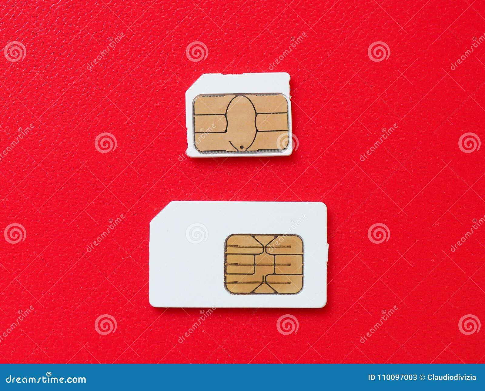 Sim I Usim Karciany Uzywac W Telefonach Obraz Stock Obraz Zlozonej