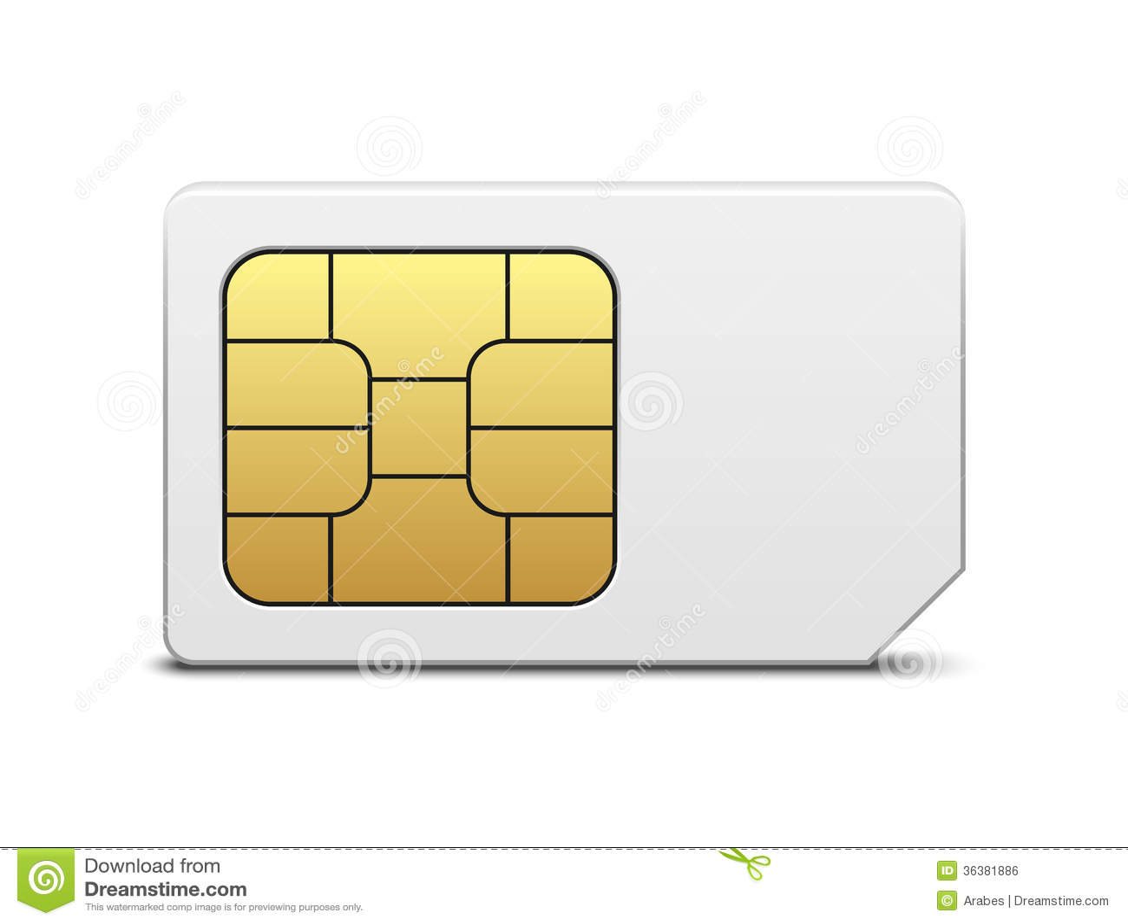 sim karte stock abbildung bild von zahl illustrator 36381886. Black Bedroom Furniture Sets. Home Design Ideas