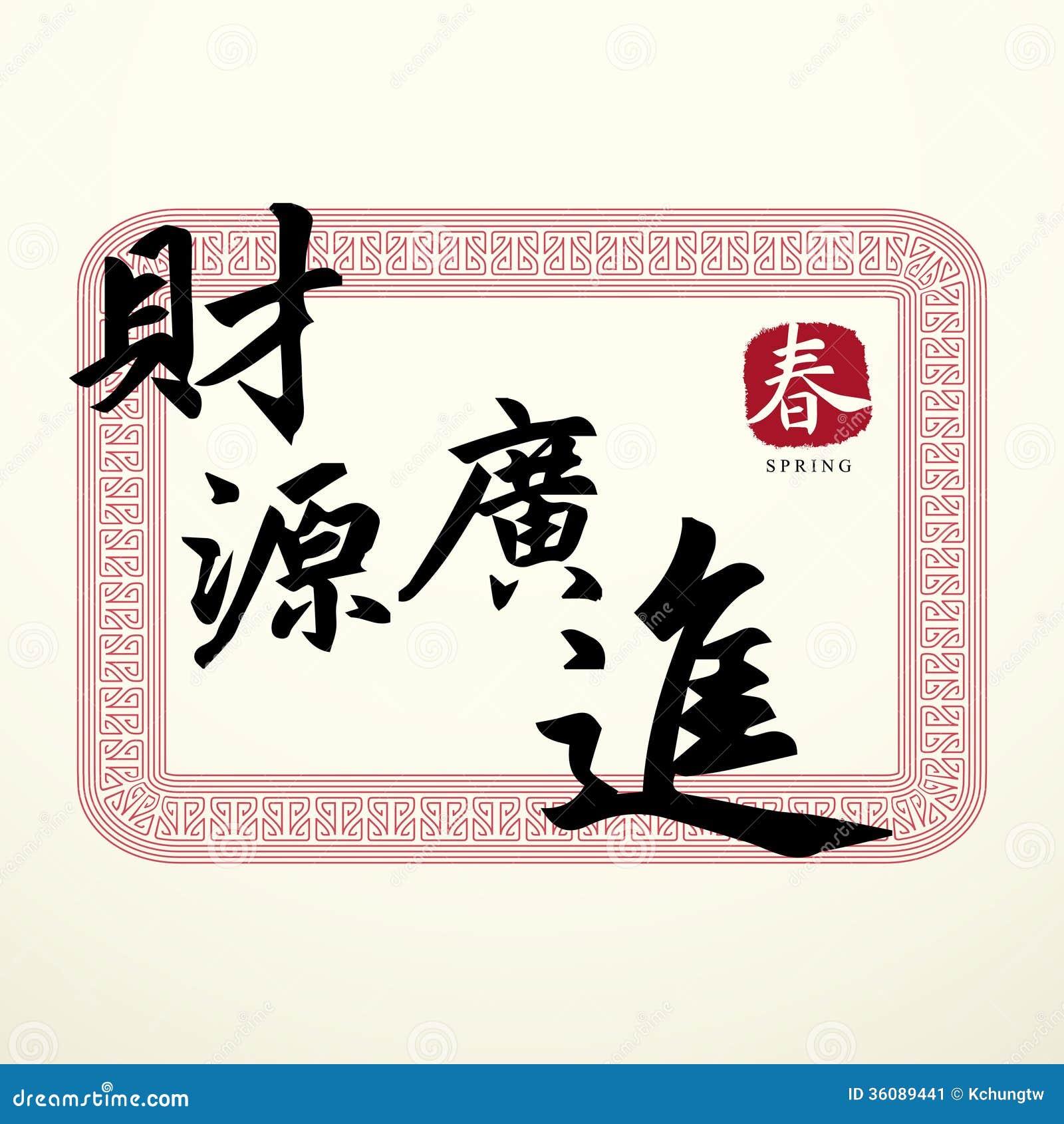 Simboli cinesi di buona fortuna di calligrafia - Simboli portafortuna cinesi ...