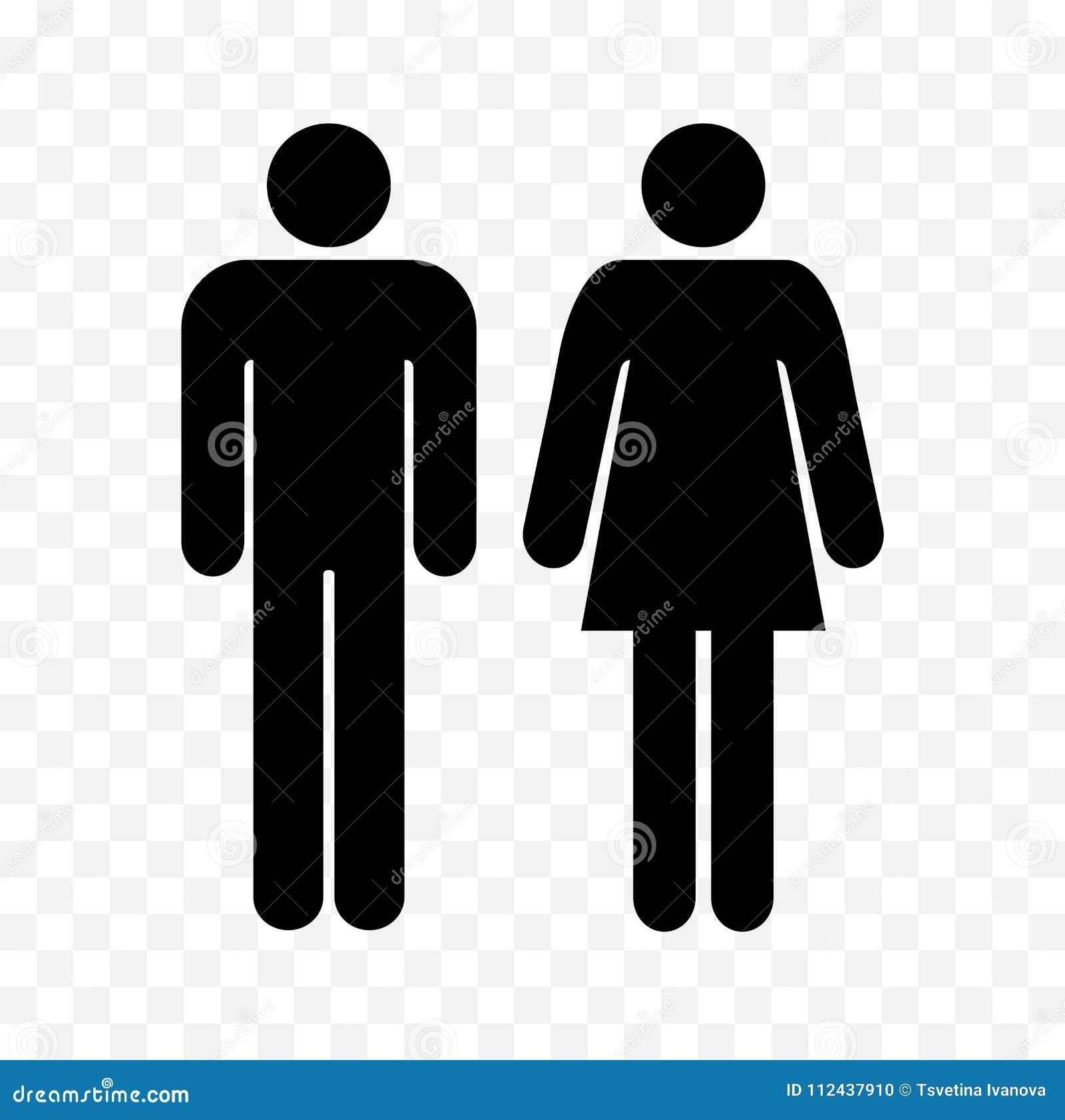 Simboli Del Wc Uomini Della Toilette E Segni Delle Donne