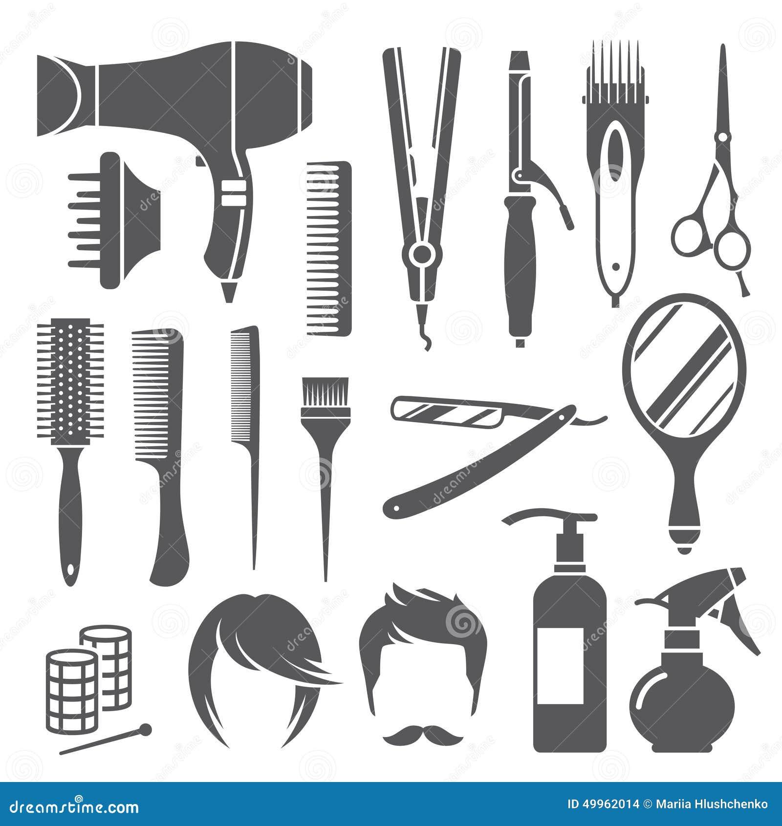 Simboli dell 39 attrezzatura di lavoro di parrucchiere for Simbolo barbiere